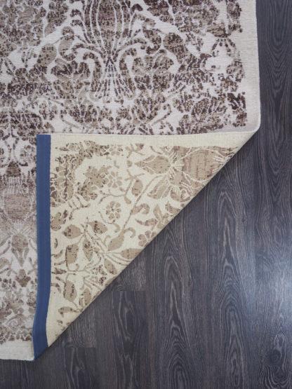 Kilimas iš kolekcijos JABU SILK 60 C755-X634 1,63 x 2,31 3, Balta, Šviesiai pilka, Minkštos vilnos ir šalto šilko mišinys
