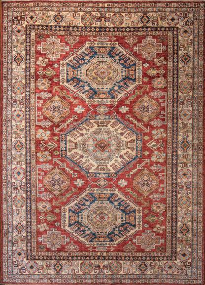 Kaukazietiško dizaino kilimas Kazak 82095 RED-IVR g