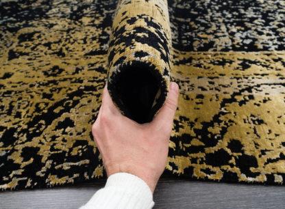 Juodas su auksu kilimas Fresco 2001C4-BLK-LGLDa