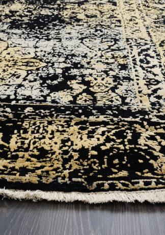 Juodas su auksu kilimas Fresco 2001-C4-BLK-LGLD