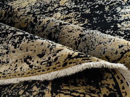 Juodas su auksu kilimas Fresco 2001C4-BLK-LGLD b