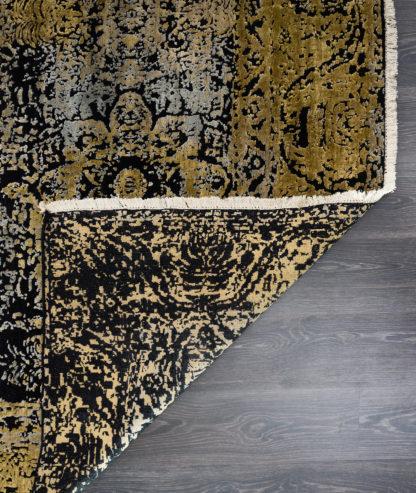 Juodas su auksu kilimas Fresco 2001C4-BLK-LGLD d