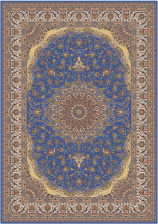 Kilimas Persian Qum 001296 BLUE