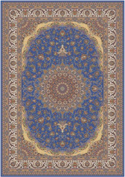Kilimas Persian Qum 001296 BLUE